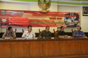Narasumber bersama Kadian Kominfo Kota Malang